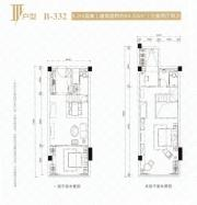 新城时代大厦III户型3室2厅64.53㎡