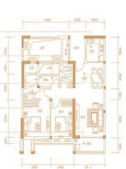 天珑广场住宅9#1、2户型3室2厅98㎡