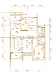 天珑广场住宅9# 户型3室2厅115㎡