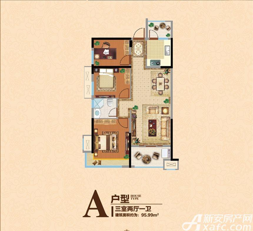 宿州万达广场A3室2厅95.99平米
