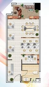 南翔城市广场1#A1室1厅63.05㎡