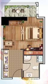南翔城市广场2#A1室1厅44.55㎡
