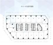 万科中心18-19层平面图