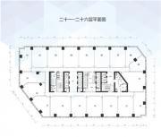 万科中心21-26层平面图