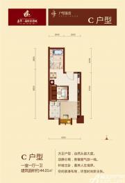 嘉华国际台湾城C1室1厅44.01㎡