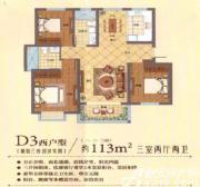 永吉凤凰城D3户型3室2厅113㎡