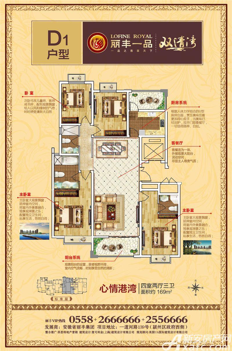丽丰一品D14室2厅169平米