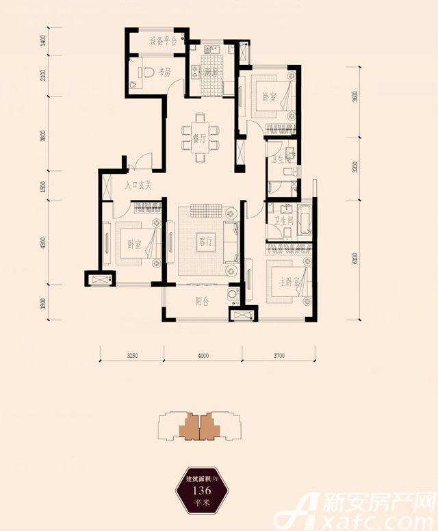 保利西山林语136㎡3室2厅136平米