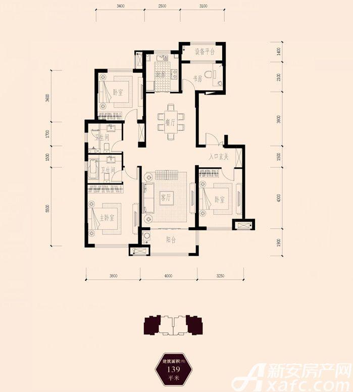 保利西山林语139㎡3室2厅139平米