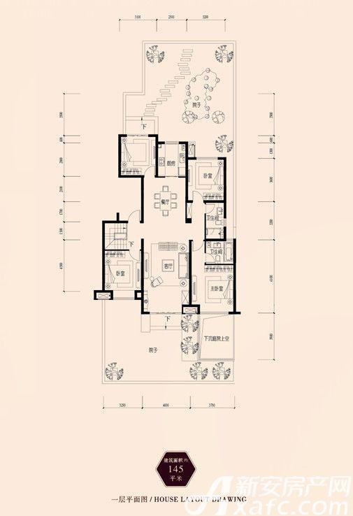 保利西山林语145㎡4室2厅145平米