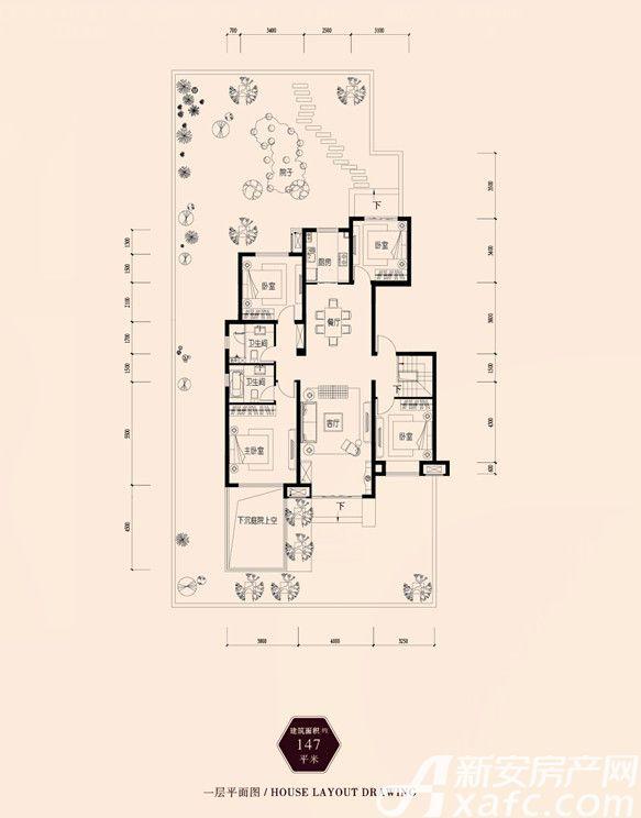 保利西山林语147㎡4室2厅147平米