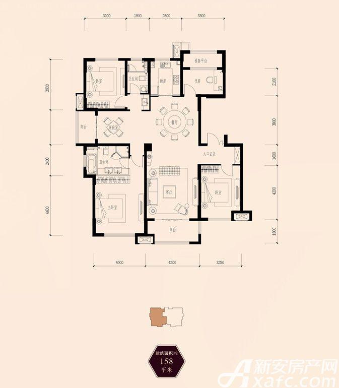 保利西山林语158㎡3室2厅158平米