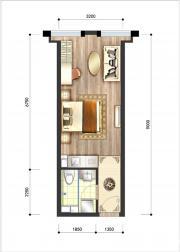 呈泰双子座A21室1厅39.33㎡