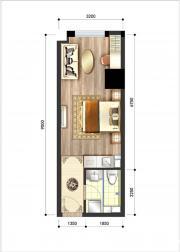 呈泰双子座A31室1厅37.94㎡