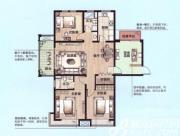 绿地上郡B1户型4室2厅140.84㎡