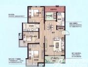 绿地上郡C1户型4室2厅125.73㎡