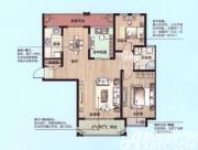 绿地上郡C3户型3室2厅111.41㎡