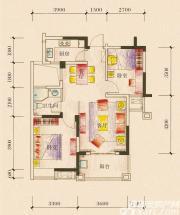新加坡花园城18#楼02户型2室2厅82.07㎡