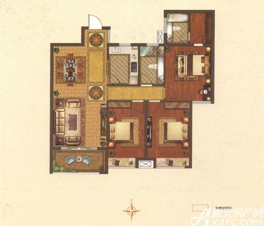 星光国际广场A户型3室2厅132平米
