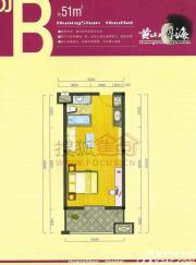 黄山厚海DJ-B1室1厅51㎡