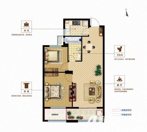 联佳爱这城G22室2厅80.68平米