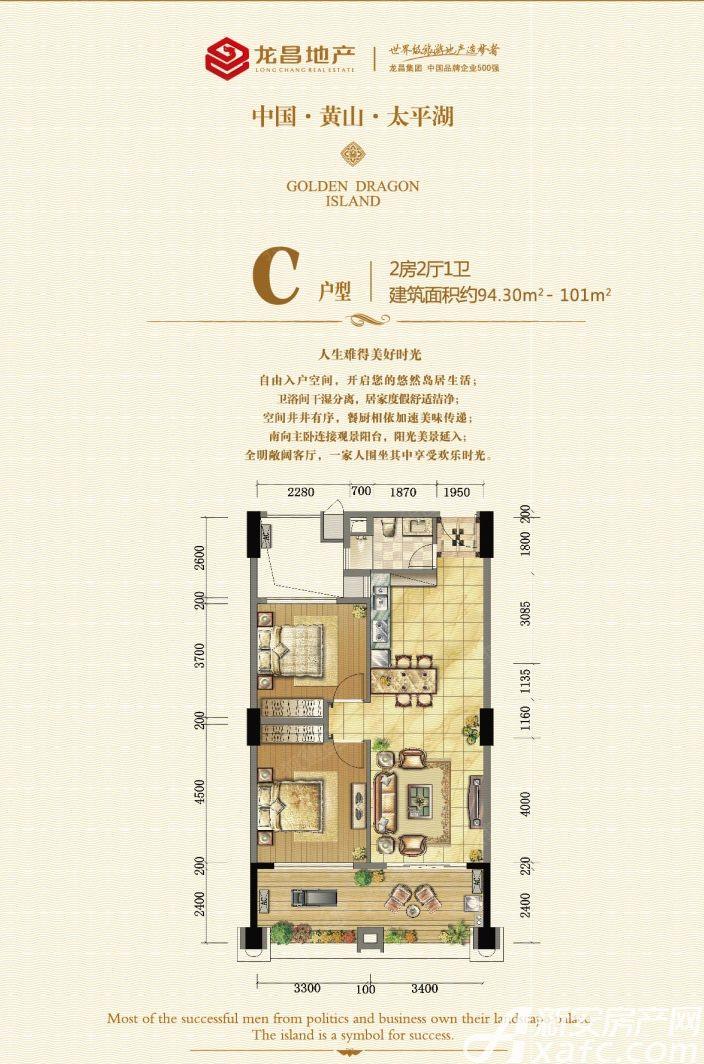 太平湖金龙岛C2室2厅101平米