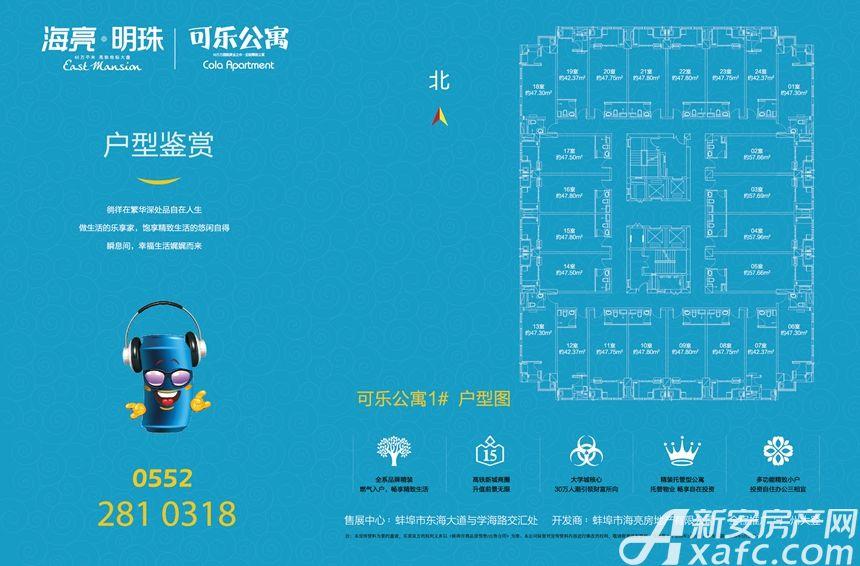 海亮城市广场可乐公寓1室1厅42.37平米