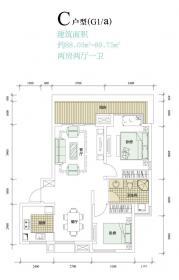 中海太平观止C2室2厅89㎡