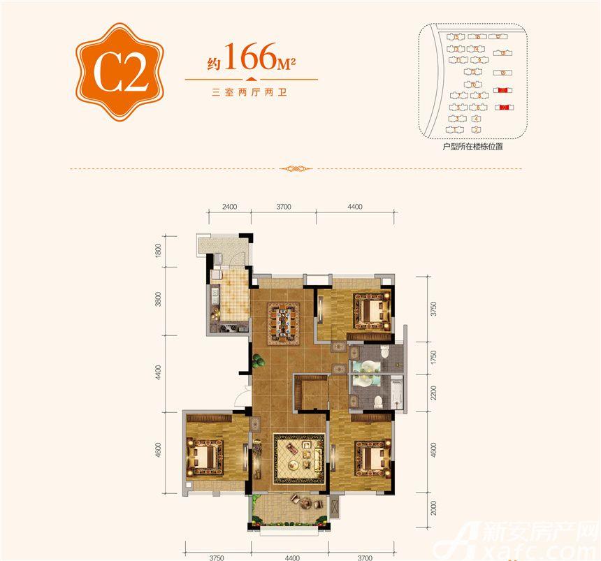 悦湖山院C23室2厅166平米