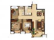 深业华府B1户型 3室2厅1卫3室2厅95.12㎡