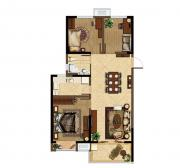 深业华府B2户型 3室2厅1卫3室2厅96.79㎡