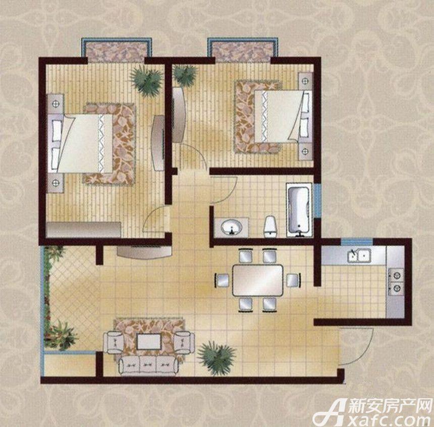 襄城明珠12#B2室2厅80.65平米
