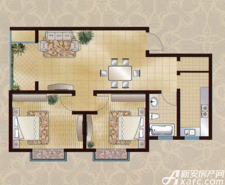 襄城明珠12#A2室2厅86.96平米