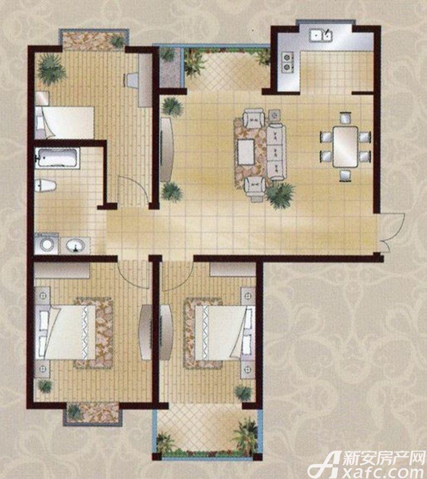 襄城明珠10#F3室2厅114.9平米