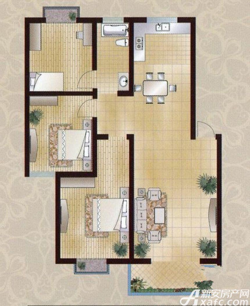 襄城明珠11#F3室2厅114.72平米