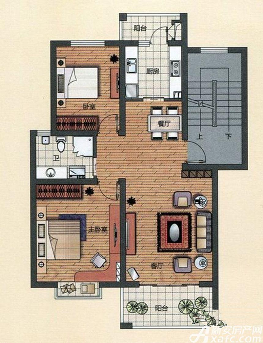 金汇康郡A12室2厅86.9平米