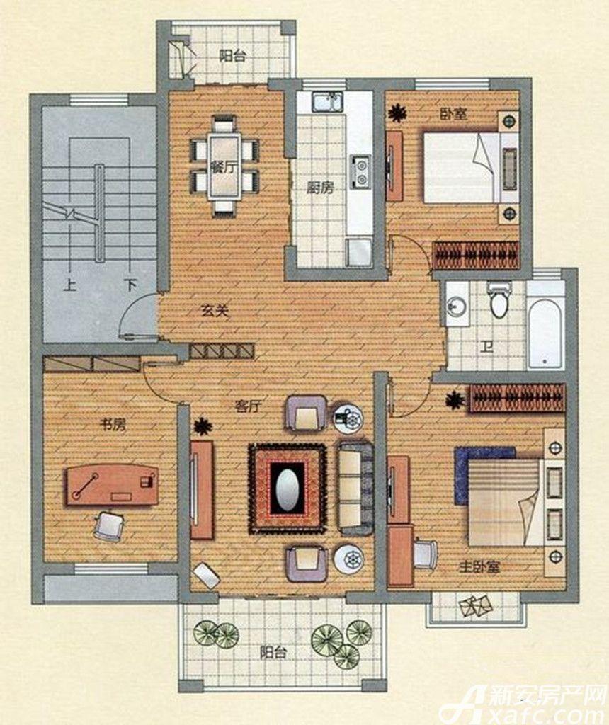 金汇康郡B13室2厅110.3平米