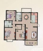 京都公馆E户型 3室2厅2卫3室2厅136.9㎡