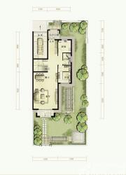 托斯卡纳小镇C户型第一层1室2厅216㎡