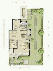 托斯卡纳小镇C1户型第一层2室2厅175㎡