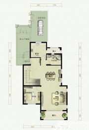 托斯卡纳小镇C3户型第一层1室2厅160㎡