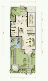 托斯卡纳小镇D户型第一层1室2厅238㎡