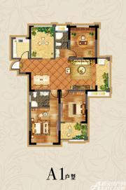 虎山一号A1户型3室2厅126㎡