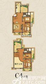 虎山一号C4户型3室2厅141㎡