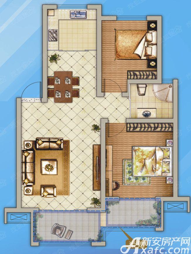 和泰国际城G2室2厅85.68平米