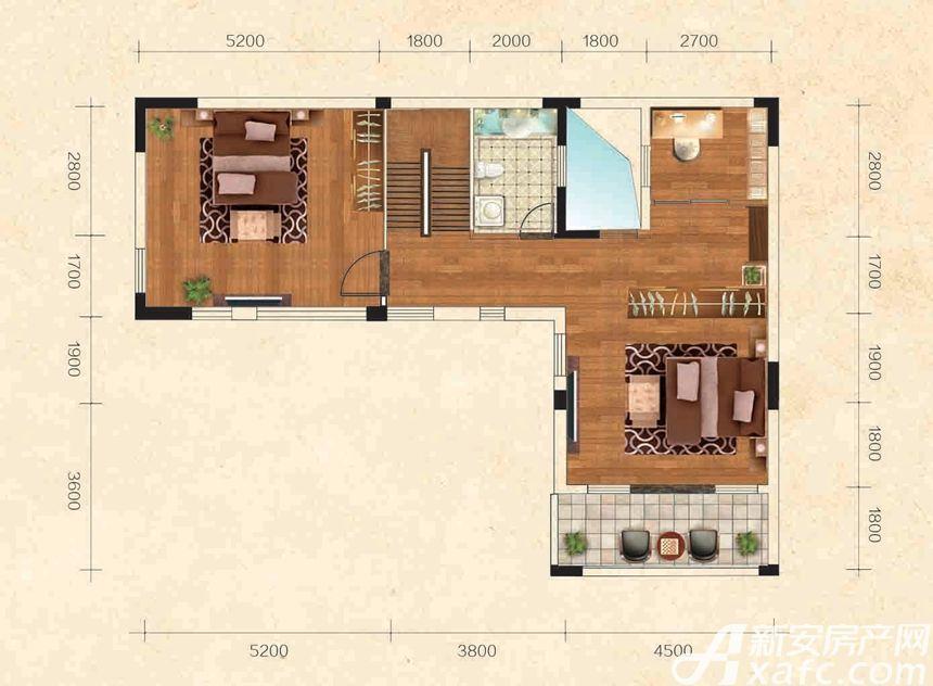 高速云水湾B户型2层2室1厅76平米