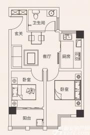 合肥国祯广场G3户型2室1厅65㎡