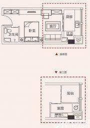 合肥国祯广场G8户型1室1厅39㎡