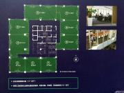 万泰汇富广场写字楼标准层总平面图示意图1室113㎡