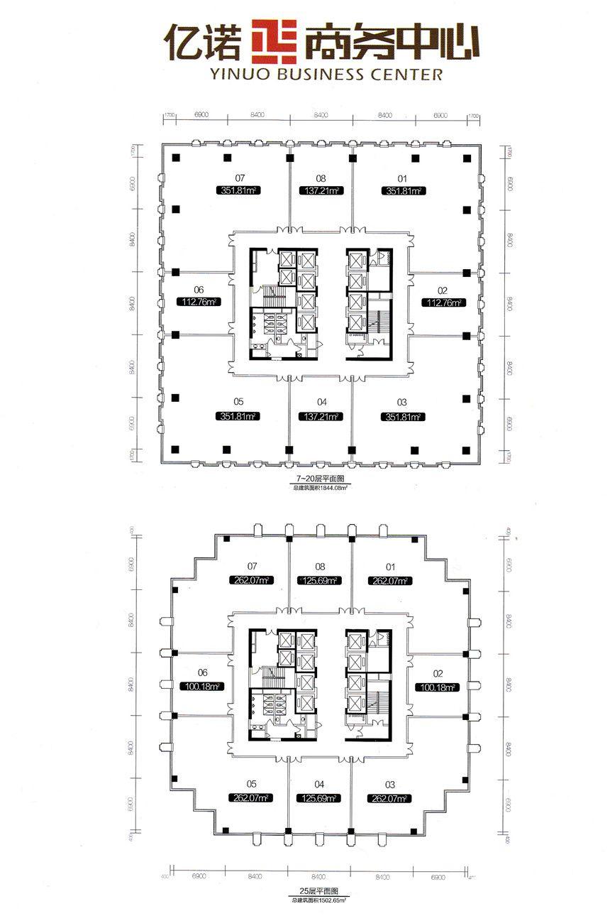 亿诺商务中心25层平面图